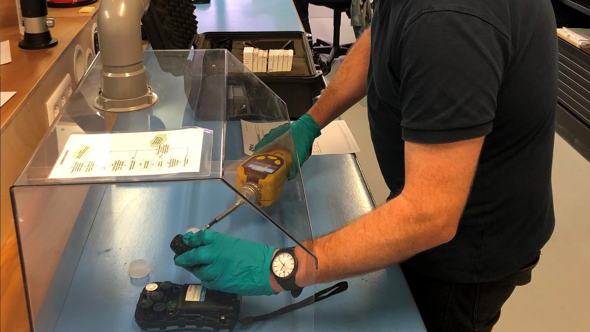 Contaminated instruments need service too