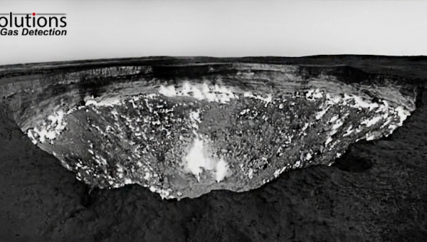 Secrets of gas detection: the Methane (CH4) spewing crater of Derweze